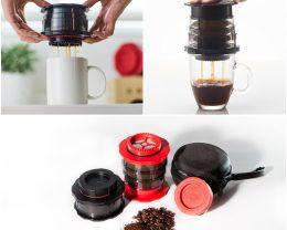 フレンチプレスコーヒーメーカー コンパクト